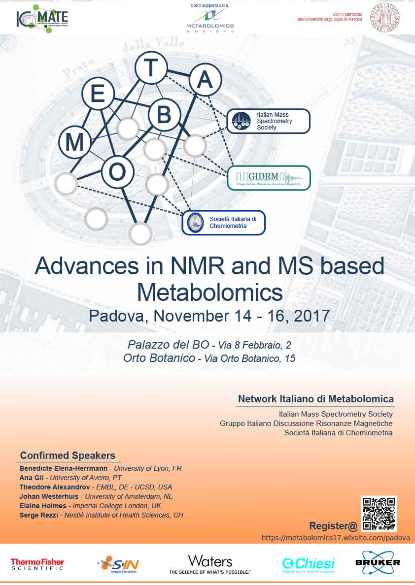 International Symposium on recent advances in NMR-based metabolomics and MS-based metabolomics